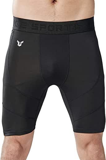 HUGE SPORTS Men's Compression Shorts Baselayer Cool Dry Active Workout Shorts Sports Tights
