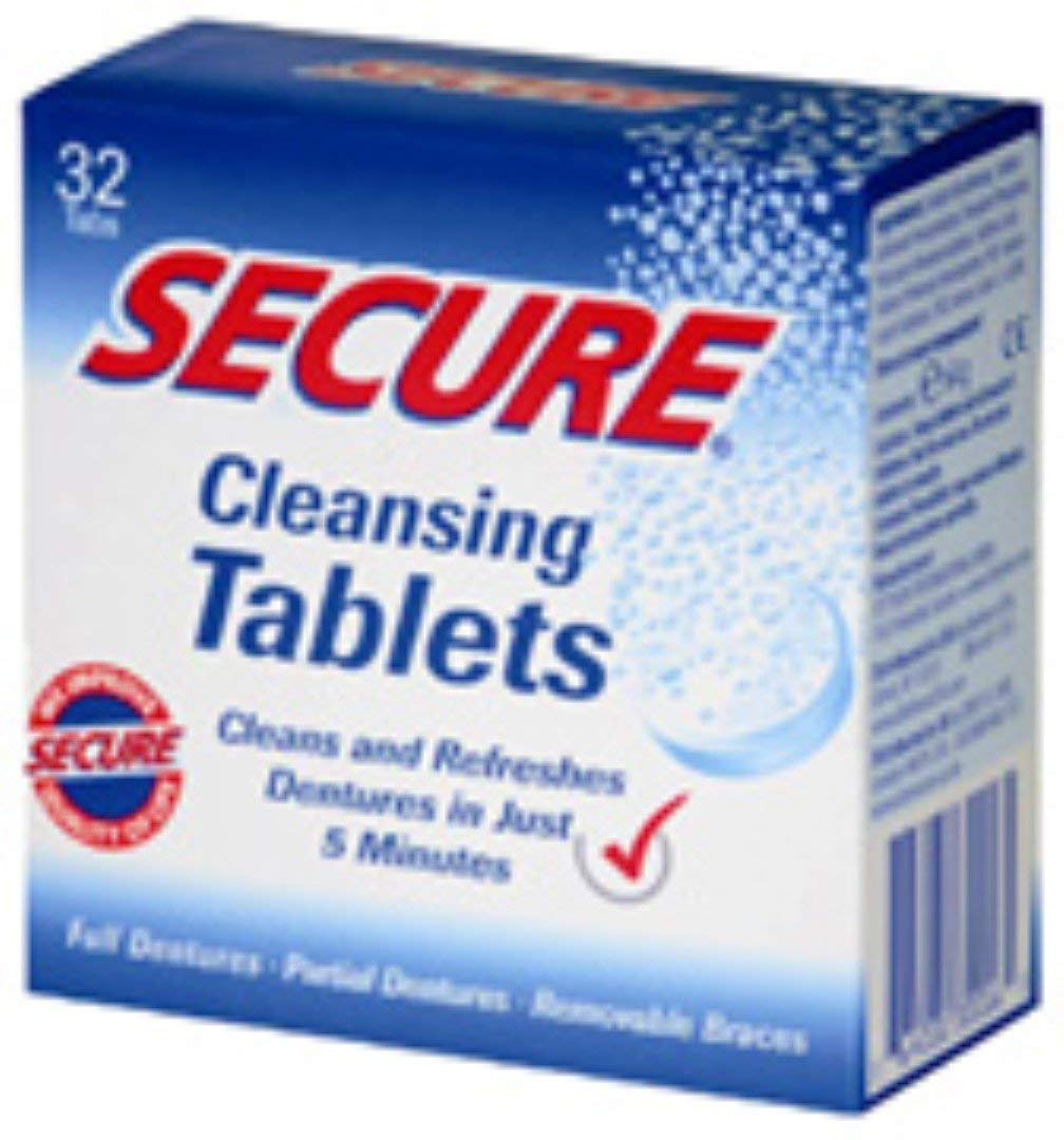 Secure Denture Cleansing Tablets 32 ea (Pack of 5)