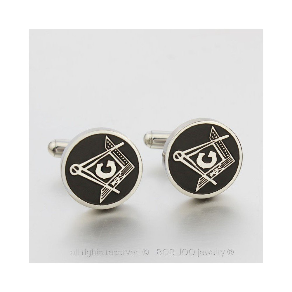 Boutons de Manchette Acier Inoxydable Franc Ma/çon Ma/çonnerie Masonic Freemason BOBIJOO Jewelry