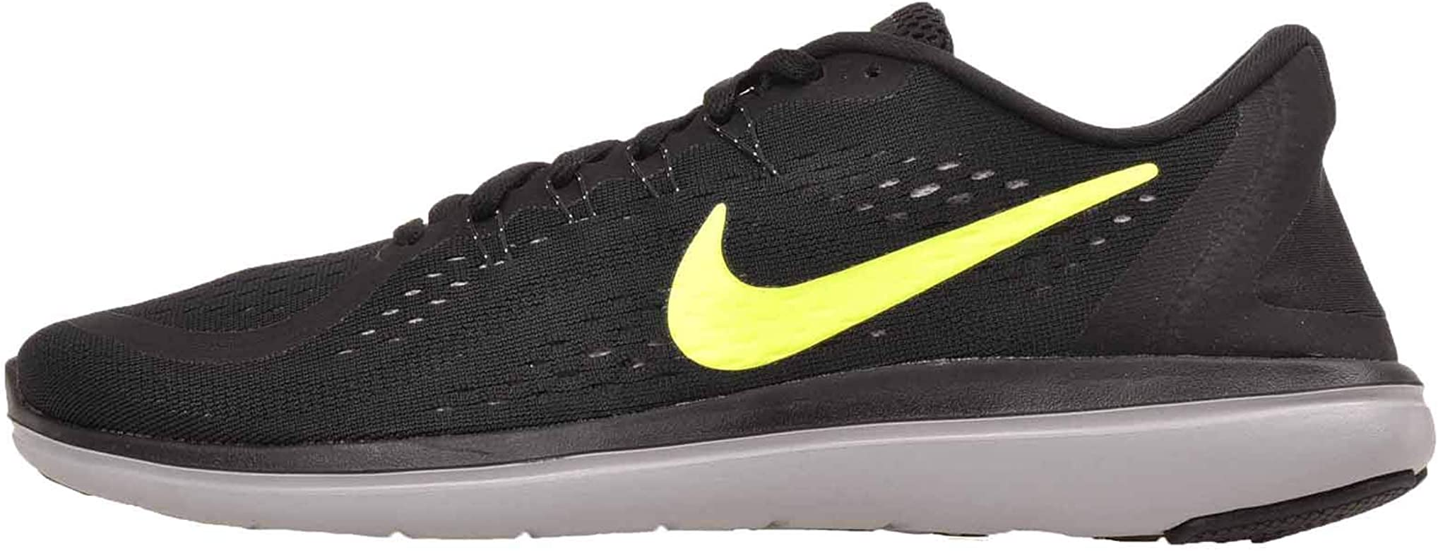 Nike Flex 2017 RN, Zapatillas de Deporte para Hombre, Multicolor (Black/Volt-Wolf Grey 015), 48.5 EU: Amazon.es: Zapatos y complementos