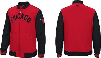 adidas Chicago Bulls NBA Originals Men's Performance Full Zip Track Jacket Veste