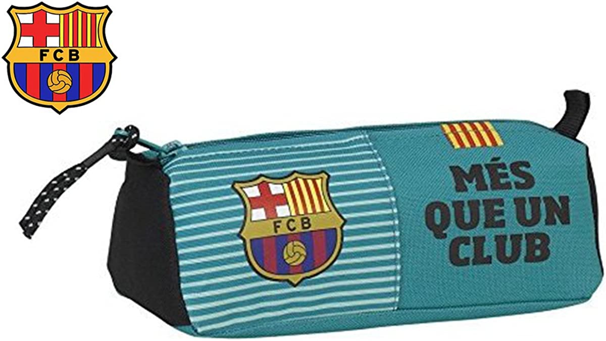 Estuche escolar F.C. Barcelona Fútbol turquesa – News Collection 21 x 8 x 7 cm: Amazon.es: Joyería