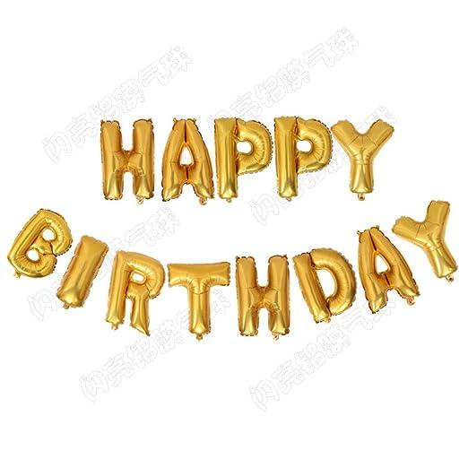 Feliz cumpleaños globo de aluminio carta cumpleaños boda ...