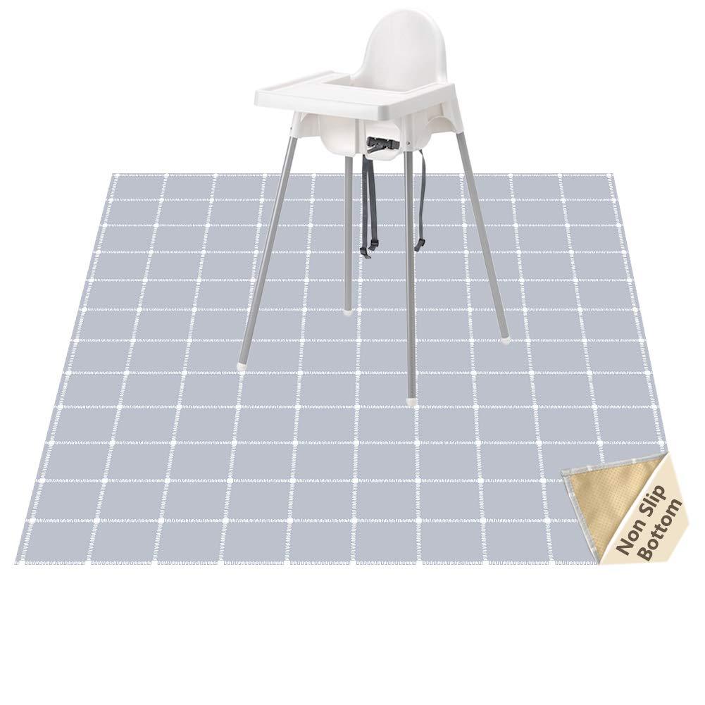 Highchair Floor Mat, Baby Splat Mat for Under High Chair/Arts/Crafts, Womumon Waterproof Spill Mat Non-Slip Splash Mat, Washable Mess Mat and Table Cloth by WOMUMON