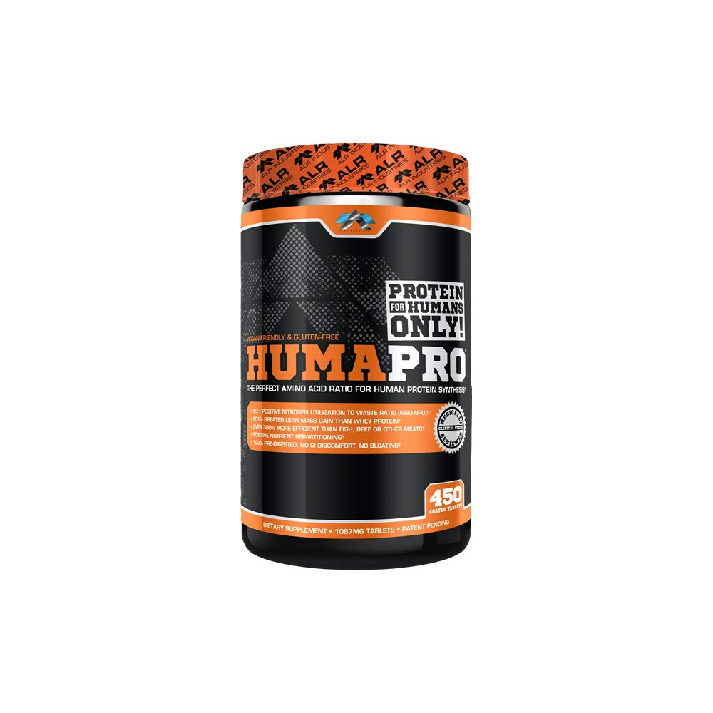ALR Industries Humapro Tabs,  Protein Matrix Formulated for Humans, Waste Less. Gain Lean Muscle, 1087mg, 450 Tabs by ALR Industries
