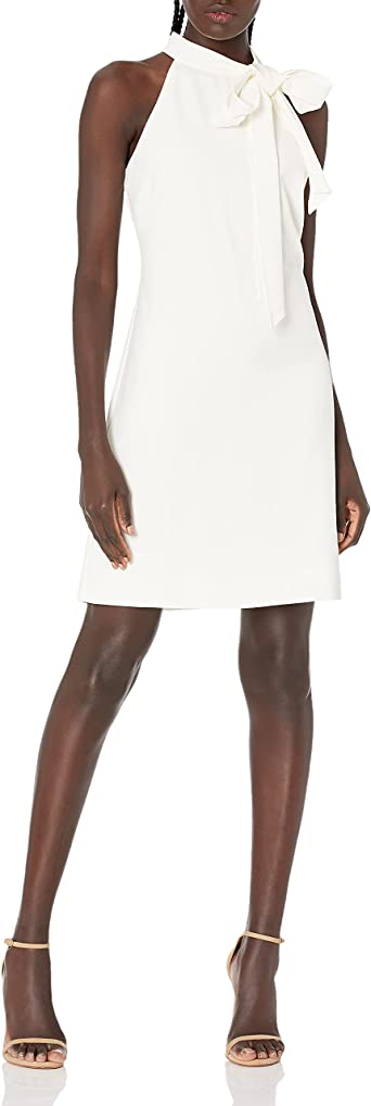 Vince Camuto Womens Crepe Off Shoulder Float with Sleeve Tie Detail