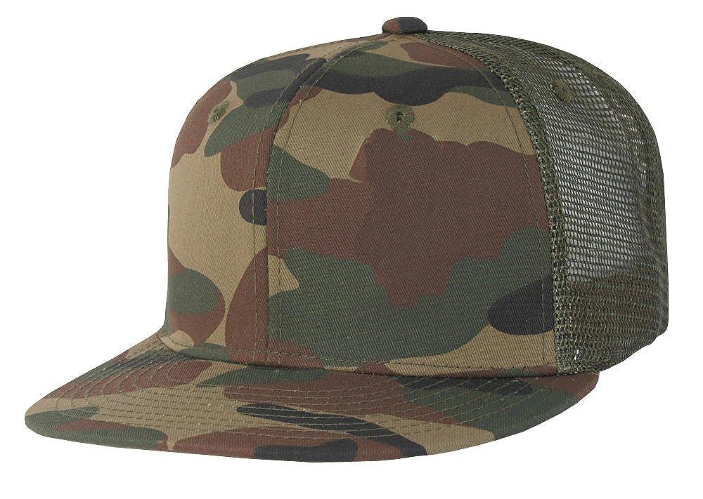 Mesh Camo Flat Bill Trucker Cap Snapbacks by Decky (Woodland Olive) at  Amazon Men s Clothing store  Baseball Caps 1a41a849ac6