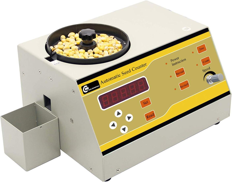 CGOLDENWALL Contador de Semilla Automático Máquina de Contar para Semillas de Varios Tipos Instrumento de Conteo de Microordenador (SLY-A, para Semillas Pequeñas y Medianas)