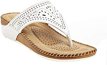 754dcce5655 Lady Godiva Allison Women s Comfort Wedge Slide Thong Sandals