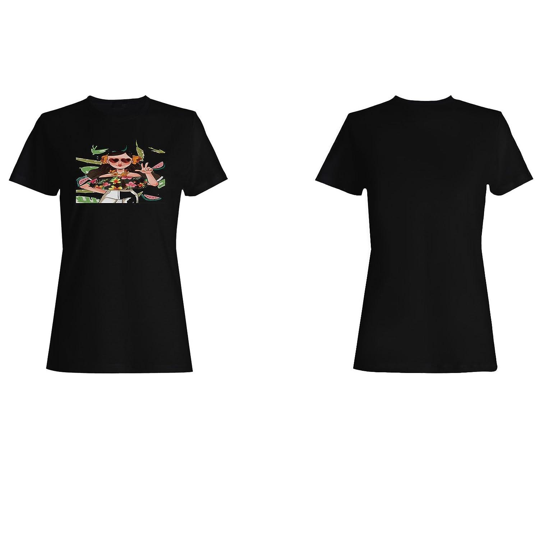 Chica Nueva Blusa Tropical camiseta de las mujeres i845f: Amazon.es: Ropa y accesorios