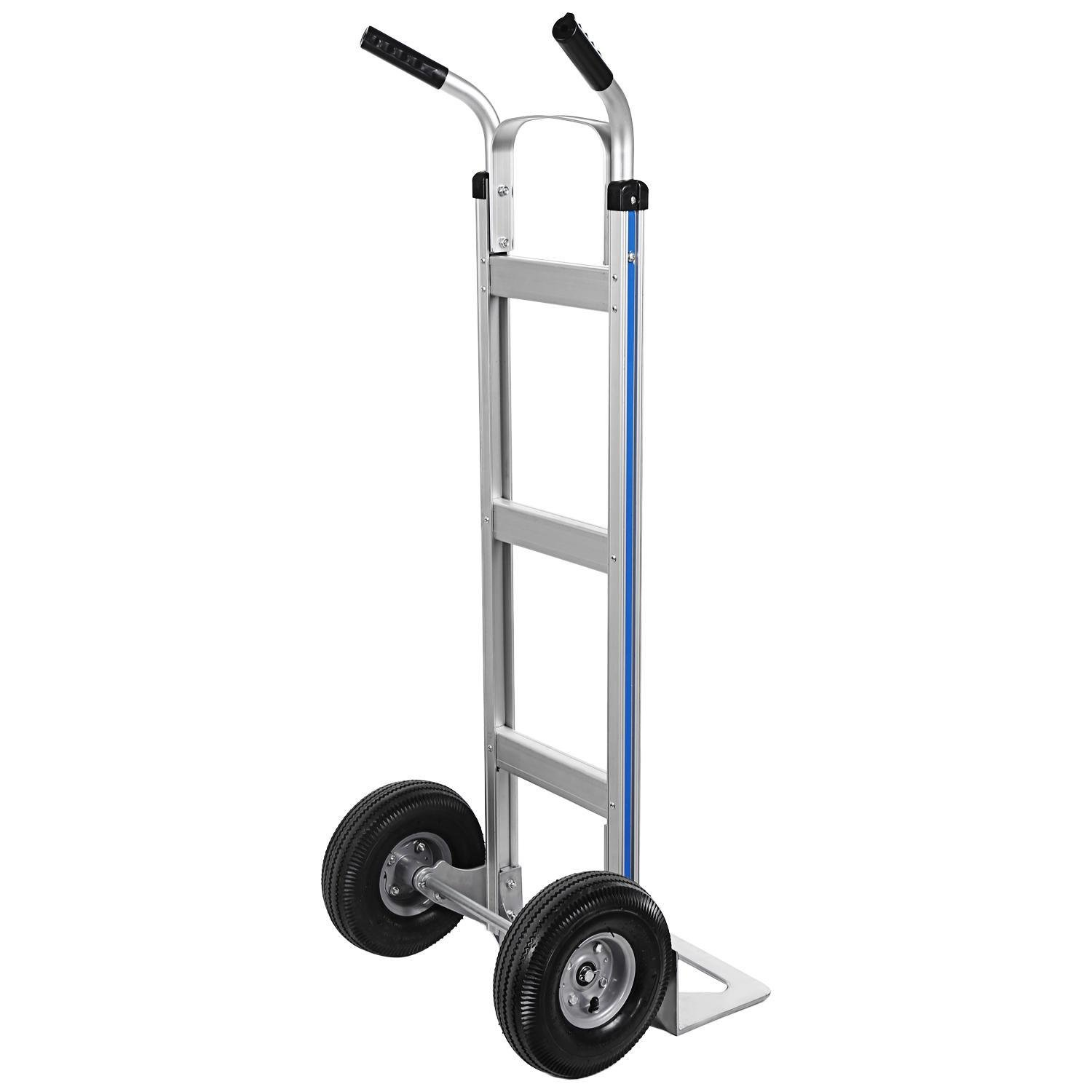 Ferty Aluminum Hand Trucks 500LBS With 2 Pneumatic Tires Dolly, Double Pistol Grip Handle Heavy Duty Trolley/Cart With 2 Wrench by Ferty (Image #4)