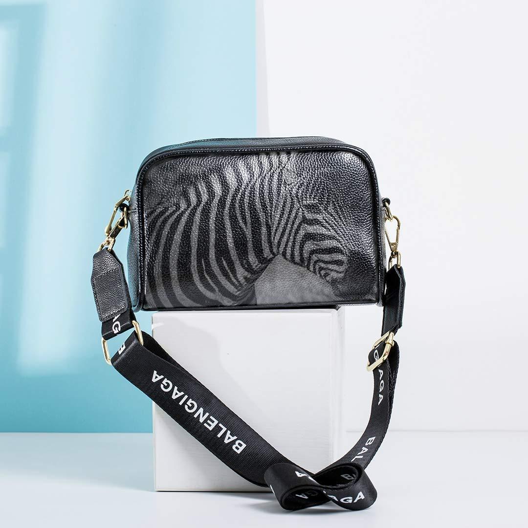 Black And White Zebra Mens Messenger Crossbody Bag Cute Shoulder Bag For Kids With Adjustable Long Strap Shoulder Bags Men Best Handbags Outdoor Crossbody Bag
