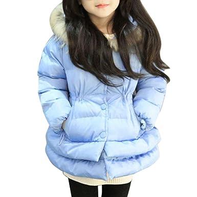Abrigo para bebé con pelo en capucha,Yannerr Chica niñas niños Invierno algodón caliente encapuchado