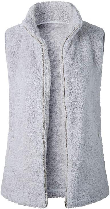 Femme Essentials Polar Fleece Lined Sherpa Vest fleece-outerwear-vests