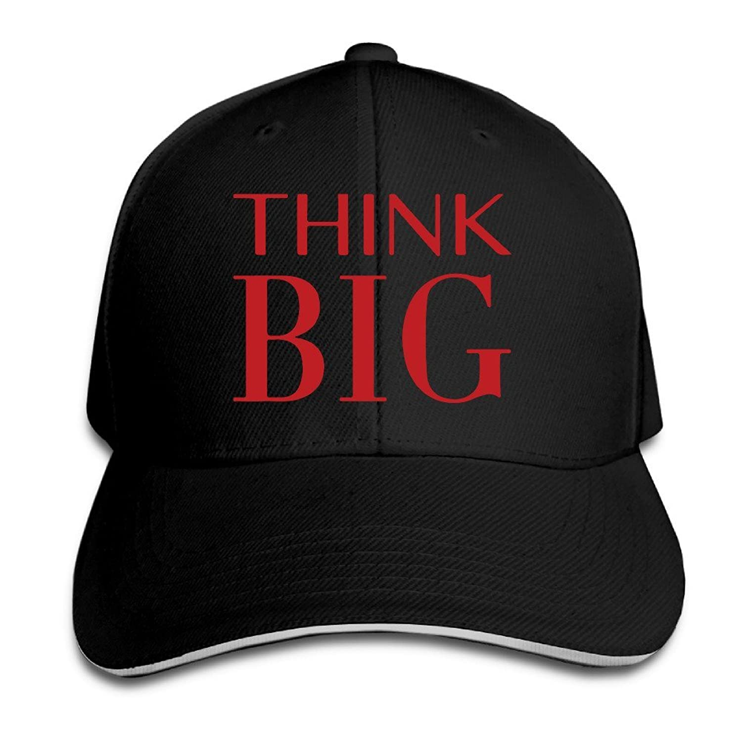 FOODE Think Big Motivational Poster Inspirational Quote Peaked Baseball Cap Snapback Hats