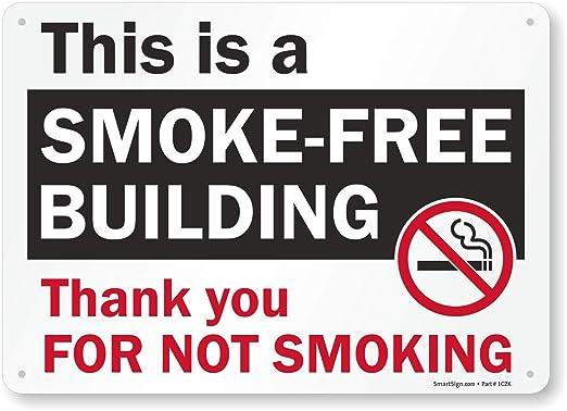 Este es un edificio libre de humo gracias por no fumar (con ...