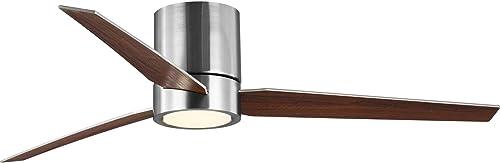 Progress Lighting P2588-0930K Braden 56inch Indoor Hugger Ceiling Fan, Brushed Nickel