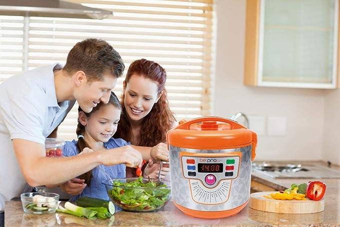 BE PRO Robot de Cocina Chef Delicook con Cubeta Daikin Gold. 14 Menús. 3 Potencias. 5 L de Capacidad: Amazon.es: Hogar