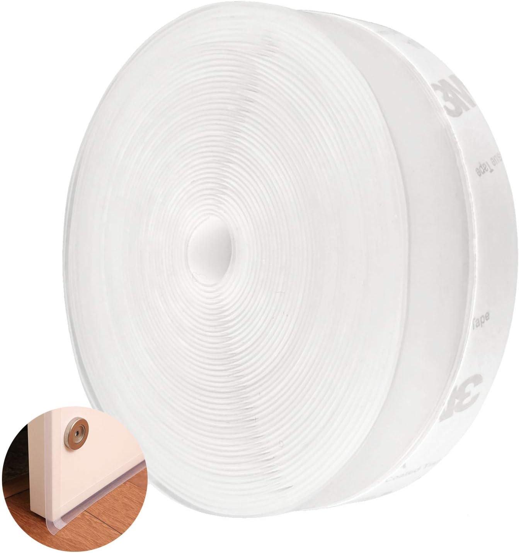 25 mm con adesivo autoadesivo da 5 m trasparente per la parte inferiore della porta antipolvere antivento insonorizzata impermeabile striscia di guarnizione in silicone per finestra Generies