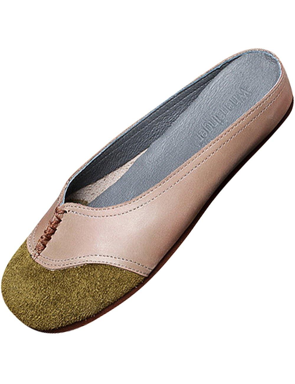 f90e4285d21063 Youlee Damen Sommer Frühling Leder Hausschuhe Slip-On Schuhe  Amazon.de   Schuhe   Handtaschen