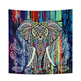 yamuda Modern Mandala Tapestry Yoga Mat Wall Hanging Decoration for Apartment Dorm Bedroom Living Room Table Couch Cover Medium Size Beach Towel Tapestries (Colorful) (colorful)