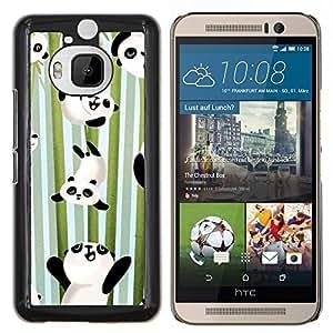 EJOOY---Cubierta de la caja de protección para la piel dura ** HTC One M9Plus M9+ M9 Plus ** --Felices bambú Japón Cute Kids