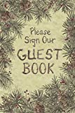 Posies and Such Welcome Guest Book Notebook for Hotel New Home Pines Berries 6x9