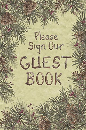 Posies and Such Welcome Guest Book Notebook for Hotel New Home Pines Berries 6x9 by Posies and Such