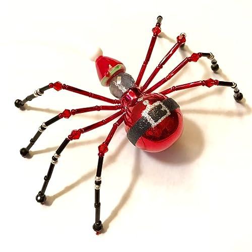 Amazon.com: Christmas Spider Ornament - Santa Hat: Handmade