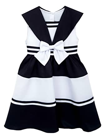 6dbef252b0 Amazon.com: Rare Editions Big Girls Sailor Dress Nautical Stripes: Clothing