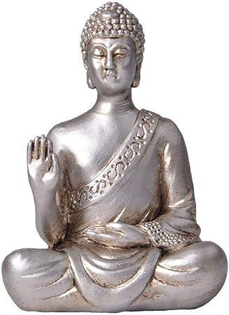Esculturas Estatua en de Buda Sentado Poliresina Manualidades Colección Decoración De Hogar Y JardíN Adorno Escultura: Amazon.es: Hogar