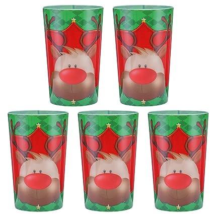 Toyvian Copas De Plastico Para Navidad Tazas Para Beber Vajilla