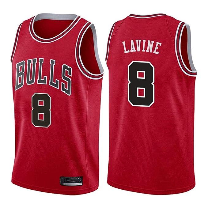 GRYUEN Hombre Mujer Ropa de Baloncesto NBA Chicago Bulls 8# LaVine ...