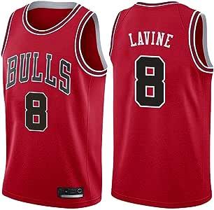 TSHULY NBA Chicago Bulls 8# LaVine Camiseta de Jugador de ...