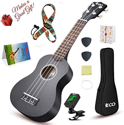 Soprano Rainbow Ukulele Beginner Pack-21 Inch w// Gig Bag How to Play Songbook...