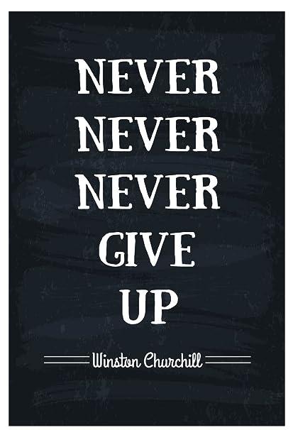 amazon com jsc166 never never never give up winston churchill