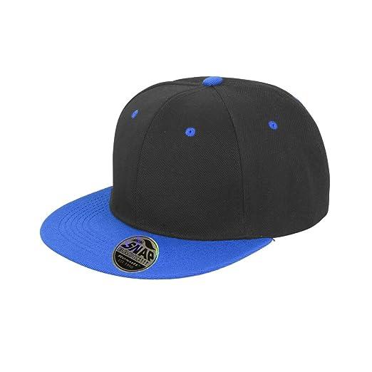 ff763ba10c7 Result Unisex Core Bronx Original Flat Peak Snapback Dual Color Cap (One  Size) (