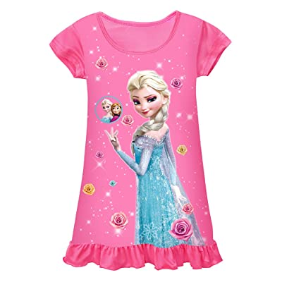 WNQY Toddler Night Gown Little Girls Princess Pajamas Dress: Clothing