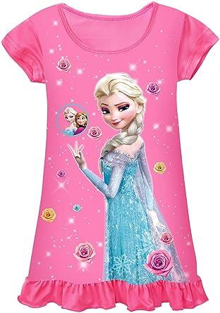 WNQY Little Girls Princess Pajamas Toddler Nightgown Dress