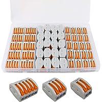 FULARR 50Pcs Premium PCT-212/213 / 215 Resorte Conector Bloque Terminal Kit, Conector Conductor Compacto, Rápido Cable…