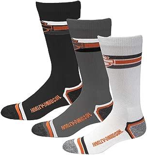 product image for Harley-Davidson Wolverine Men's 3 Pack Retro Rider Wicking Socks D99218870-990
