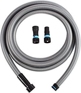 Cen-Tec Systems 94192 16 Ft. Hose for Home and Shop Vacuums with Multi-Brand Power Tool Adapter for Dust Collection, Silver