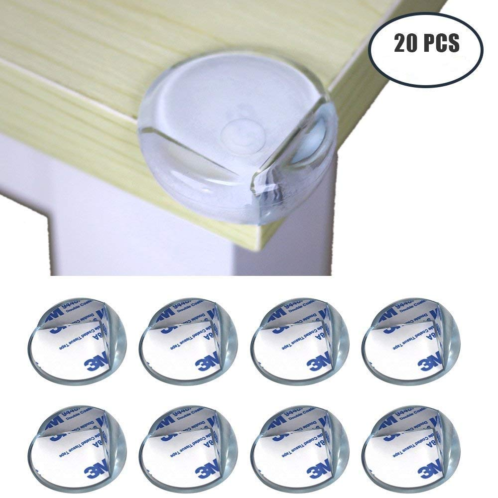 Md trade 20Pcs Baby Proofing Corner Guards - Edge & Corner Guards - Baby Safety Table Corner Protector - Child Clear Silicone Rubber Adhesive Furniture Cushions