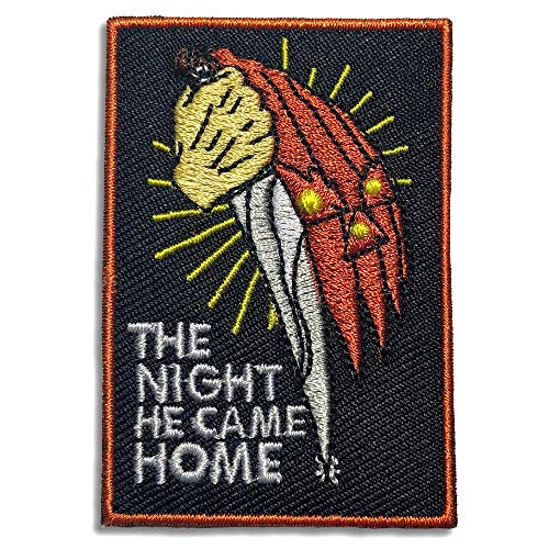 Wasted Days Embroidered Iron On or Sew On Novelty Patch, Halloween The Night He Came -