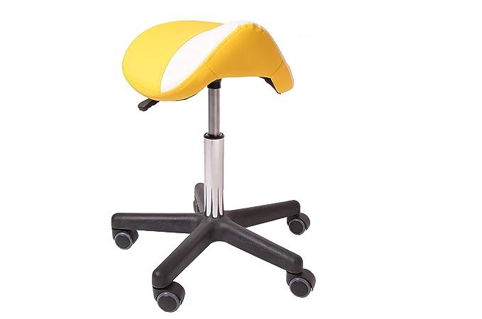 Homcom Arbeitshocker Drehstuhl Drehhocker Rollhocker Sattelhocker Hocker 2 Farbe