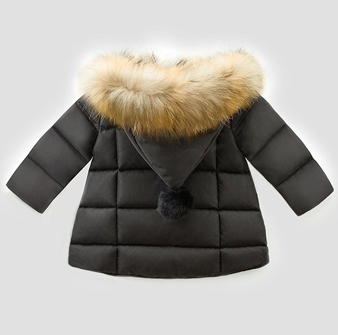 Sumen Kids Down Jacket Coat Warm Hats Cotton Jacket Winter Baby Girl Clothes