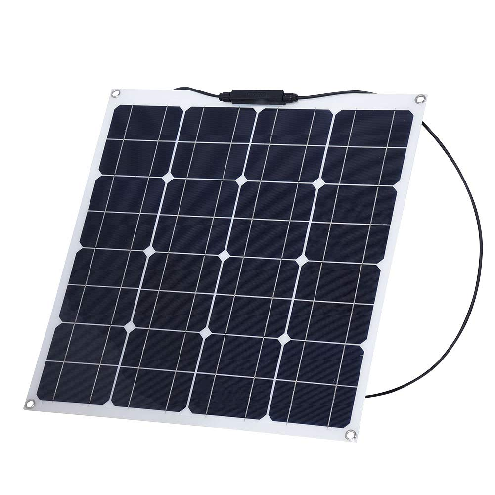 Pomya 12V Solar Panel Charger Portable Flexible 30° Solar Charger Durable Waterproof for Outdoor Work/Travel/Camping Training