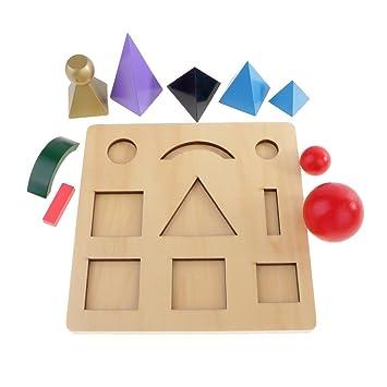 Backbayia Niño Bebés Montessori Lenguaje de 9 Símbolo Gramatical Educativo Sensorial Material