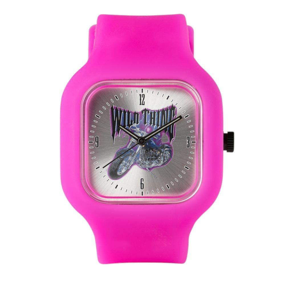 Bright Pink Fashion Sport Watch Wild Thing Motorcycle Biker