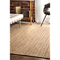 nuLOOM Natural Hand Woven Rigo Jute rug Area Rug, 3 x 5